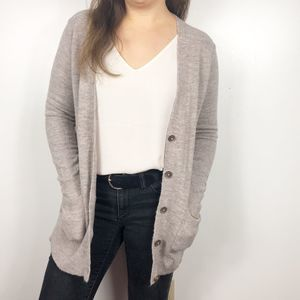 OLD NAVY | Oatmeal V-neck Button Up Cardigan Small